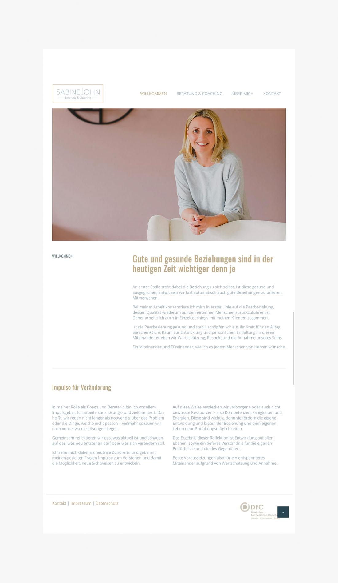 SabineJohn_01 - Webdesign Wordpress