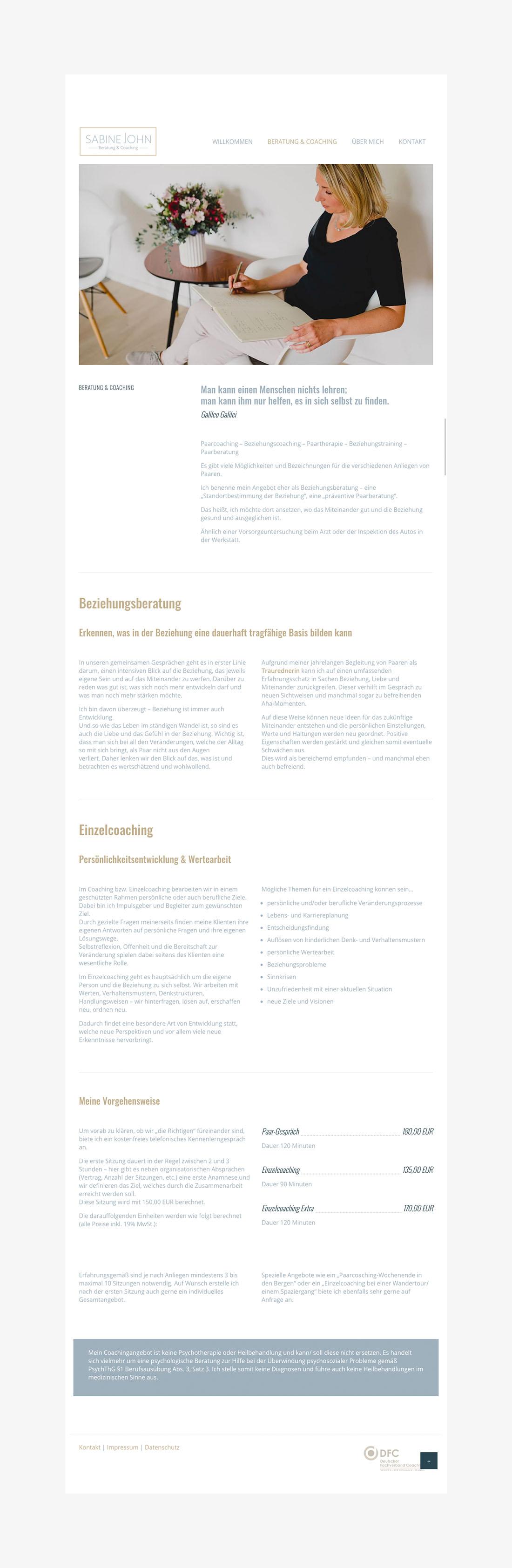 SabineJohn_02 - Webdesign Wordpress